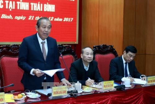 Thai Binh urged to focus on socio-economic development hinh anh 1