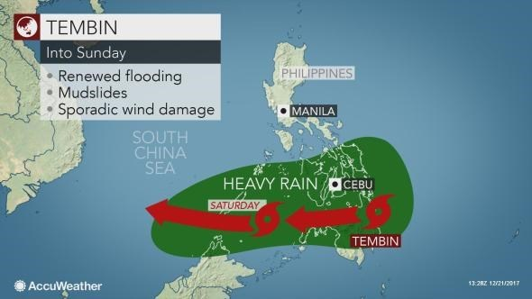 Typhoon Tembin lands in southern Philippines hinh anh 1