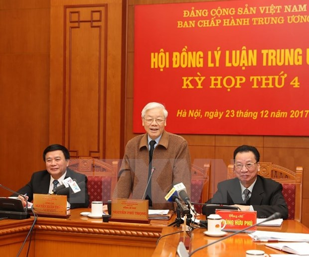 Party chief attends Central Theoretical Council's fourth meeting hinh anh 1