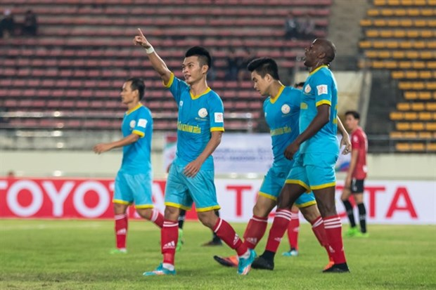 Khanh Hoa set to beat Muangthong United in Mekong Cub's first leg hinh anh 1