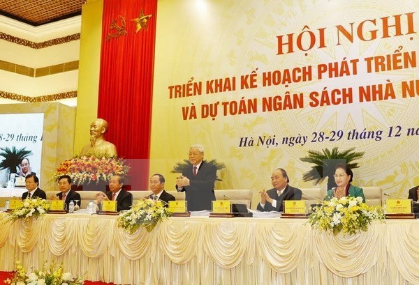 Party, State, NA leaders attend Government meeting for first time hinh anh 1