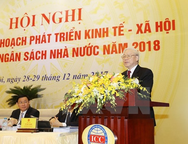 Priority should be given to perfecting market economic institution: Party chief hinh anh 1
