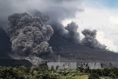 Indonesia's Sinabung volcano erupts again hinh anh 1