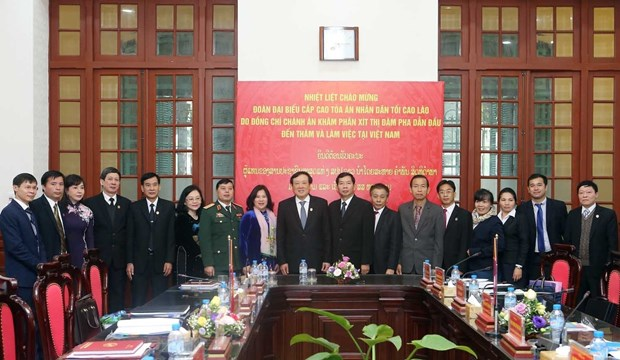 Vietnamese, Lao people's courts work to step up cooperation hinh anh 1