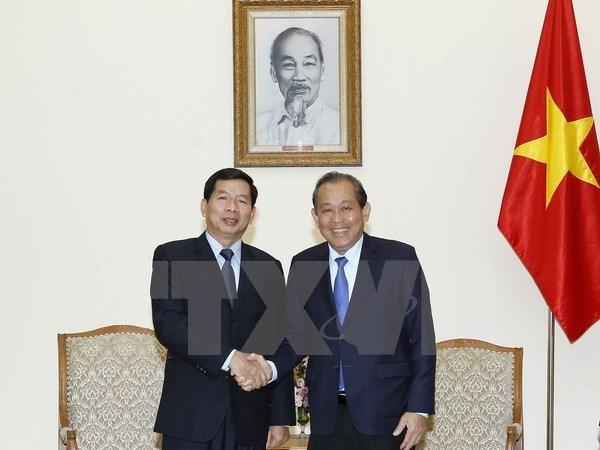 Deputy PM lauds Vietnam-Laos judicial cooperation hinh anh 1
