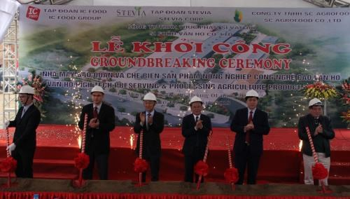 Son La: work starts on agriculture processing plant hinh anh 1