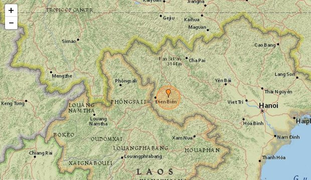 3.9-magnitude earthquake hits Dien Bien early morning hinh anh 1