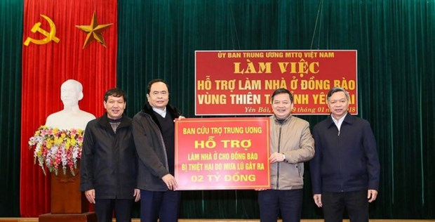Fatherland Front aids disaster-hit residents in Yen Bai hinh anh 1