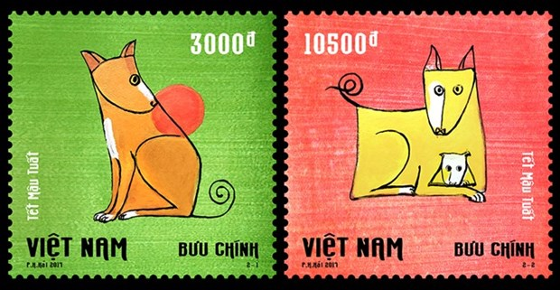 New stamps welcome Year of the Dog hinh anh 1