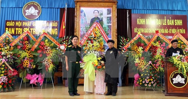 Hoa Hao followers celebrate 98th birthday of the sect's founder hinh anh 1