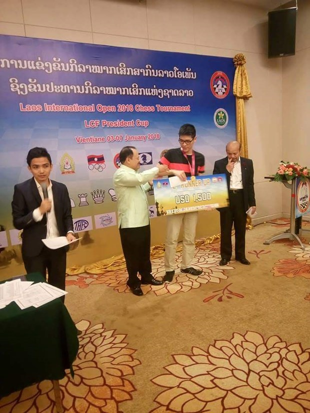 IM Minh grabs silver at Lao chess tourney hinh anh 1