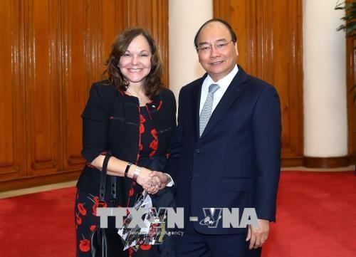 PM hosts American Bar Association President hinh anh 1