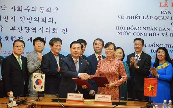 HCM City, Busan establish cooperative ties hinh anh 1