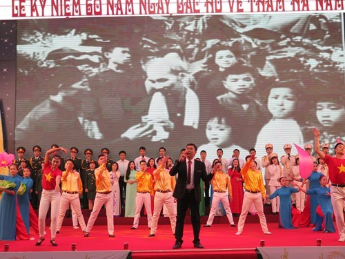 Ha Nam marks six decades since Uncle Ho's visit hinh anh 1