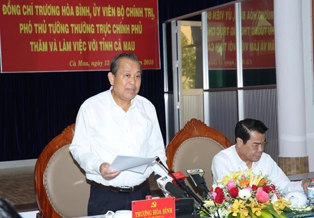 Deputy PM asks Ca Mau to expand marine-based economy hinh anh 1