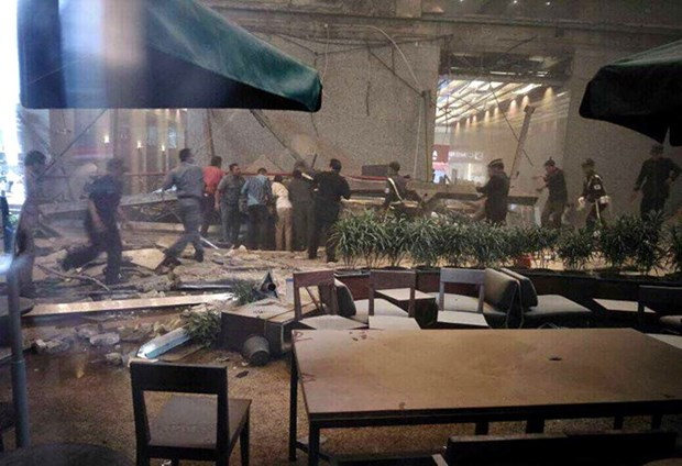 Indonesia police affirm stock market building collapse not an explosion hinh anh 1
