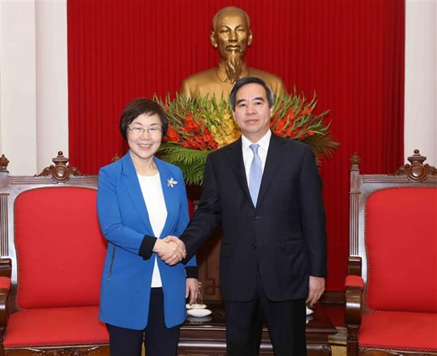 Party official meets with KOICA President hinh anh 1