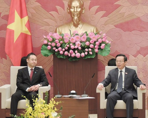 Delegation of Japan's Liberal Democratic Party welcomed in Hanoi hinh anh 1