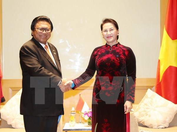 Vietnam, Indonesia should raise trade to 10 billion USD: NA Chairwoman hinh anh 1