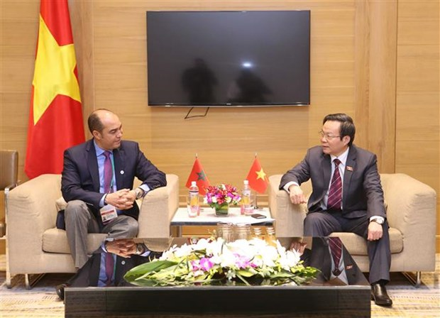 NA Vice Chairman meets with Moroccan delegates hinh anh 1