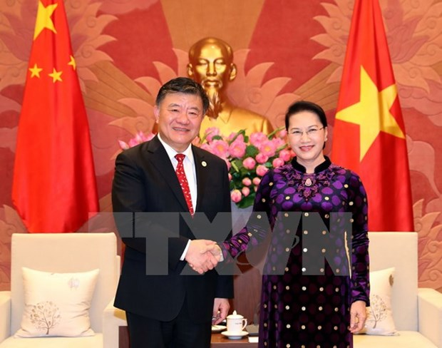 NA Chairwoman receives Chinese People's Congress Vice Chairman hinh anh 1