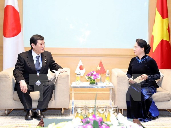 NA Chairwoman welcomes Japanese parliamentary delegation hinh anh 1