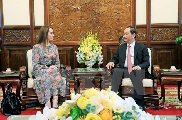 President Tran Dai Quang hosts IPU leaders hinh anh 1