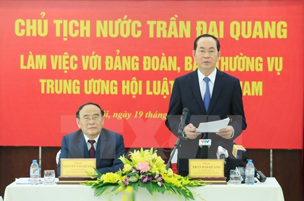 President urges lawyers association to promote legal consultancy hinh anh 1