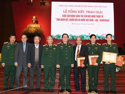 Literature, art works highlight Vietnam-Laos-Cambodia solidarity hinh anh 1