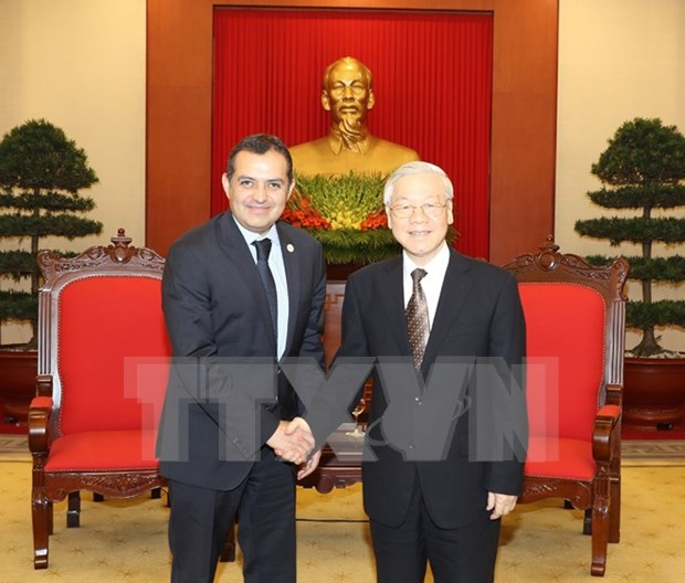 Party chief calls for enhanced Vietnam- Mexico relations hinh anh 1