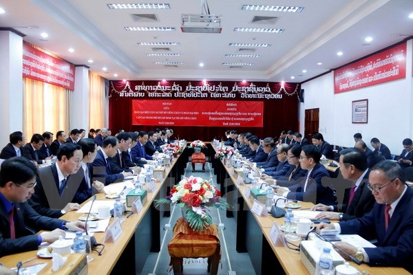 HCM City Party Committee Secretary visits Vientiane hinh anh 1