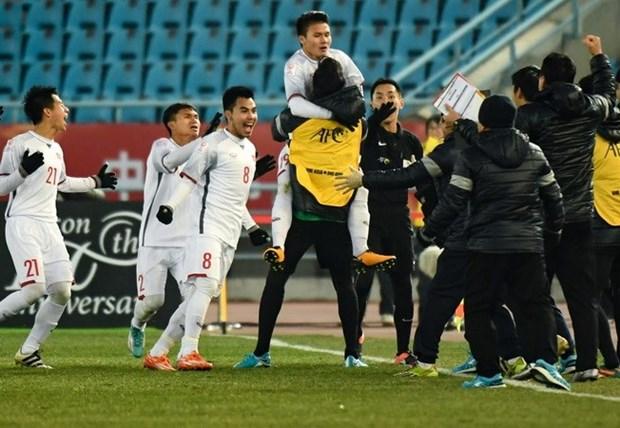 Vietnam's U23 team shakes international media hinh anh 1