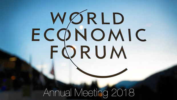 Deputy PM Vuong Dinh Hue attends 48th WEF meeting hinh anh 1