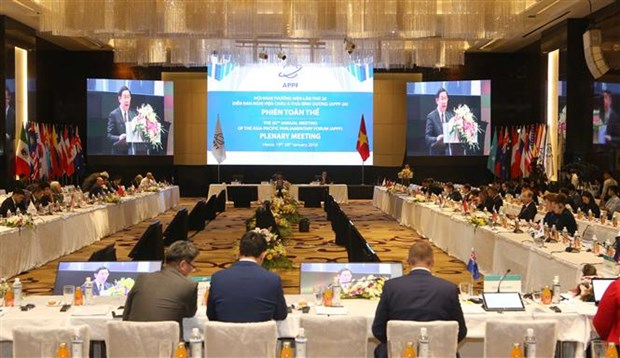 Asia-Pacific parliaments backs regional economic-trade cooperation hinh anh 1