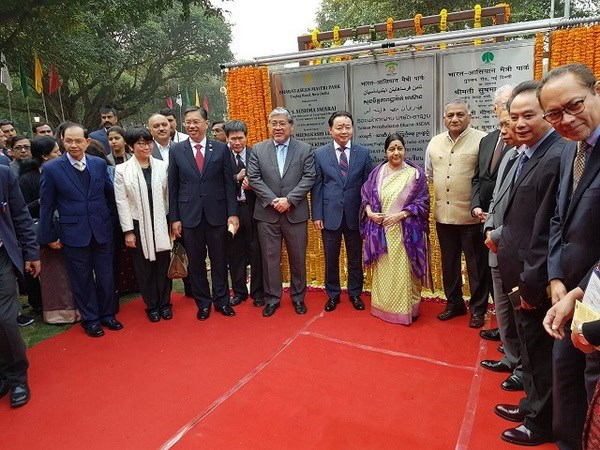 India-ASEAN friendship park inaugurated in New Delhi hinh anh 1