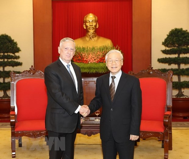 Party chief welcomes US Secretary of Defence hinh anh 1
