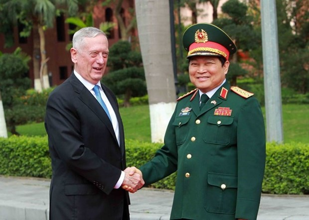 Vietnamese, US defence ministers hold talks hinh anh 1