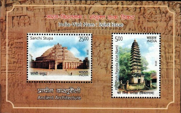 Vietnam, India release commemorative postage stamps hinh anh 2