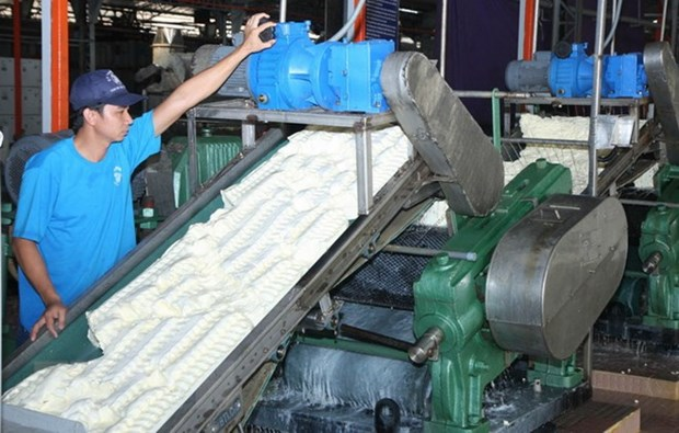 Vietnam rubber latex processing plant inaugurated in Cambodia hinh anh 1