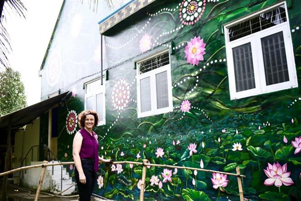 Vietnam-Australia Mural Village launched in Dong Thap hinh anh 1