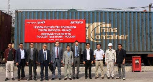 First container train links Russia and Vietnam hinh anh 1
