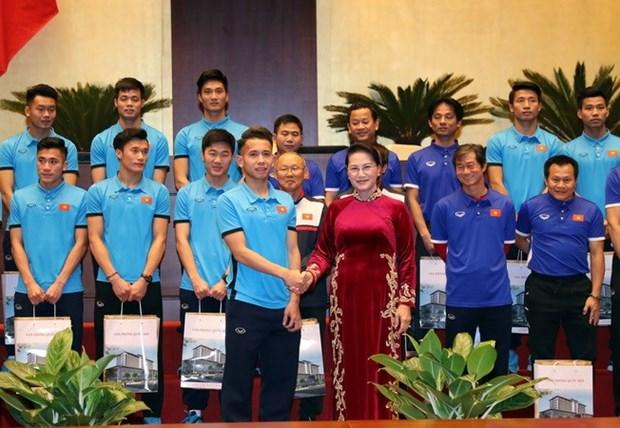 NA Chairwoman praises U23 Vietnam hinh anh 1