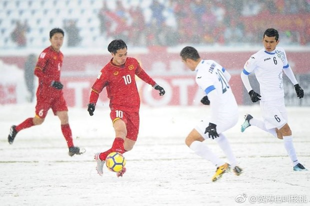 Vietnam U23 players' courage, passion melt snow: OSEN hinh anh 1