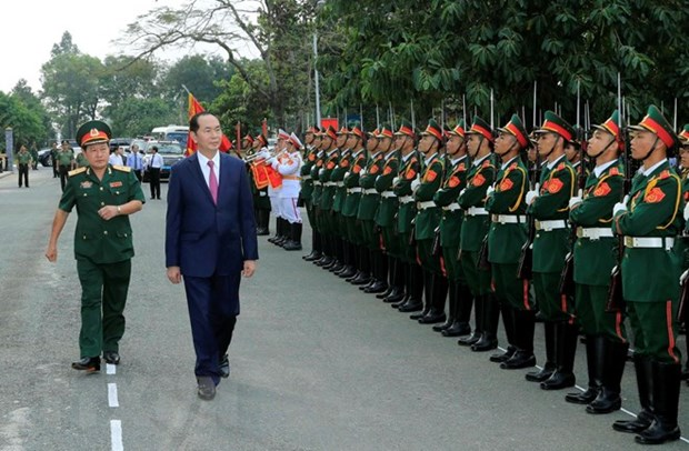 President Tran Dai Quang pays pre-Tet visit to Army Corps 4 hinh anh 1