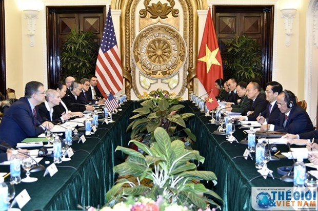 Vietnam, US talk political, security, defence matters hinh anh 1
