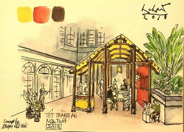 Metropole recreates Hanoian old market hinh anh 1