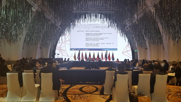 Vietnam attends ASEAN SOM in Singapore hinh anh 1