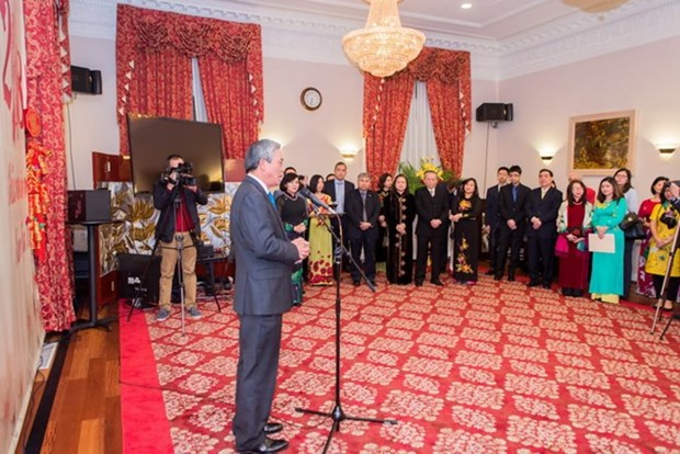 Vietnamese expats in US, UK celebrate Tet hinh anh 1