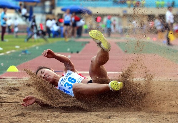 Vietnamese athlete wins gold at Asian Indoor Athletics Champs hinh anh 1
