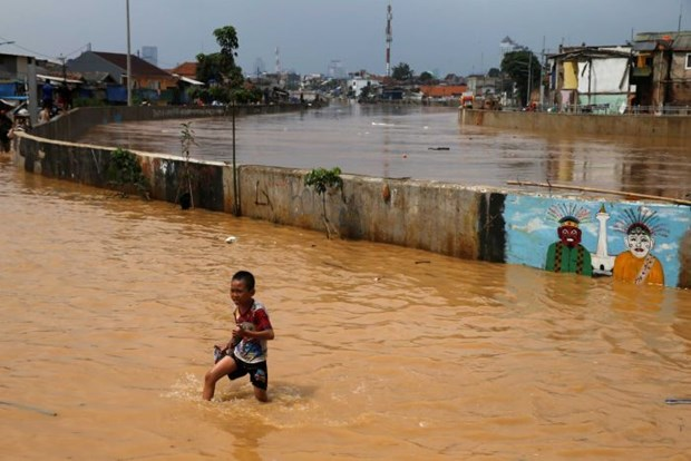 Indonesia: Thousands evacuated from Jakarta over floods hinh anh 1